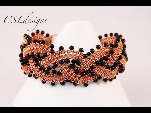 macramè - bracciale con filo metallico