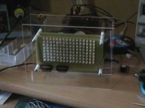 16x8 LED Matrix Clock and Thermometer