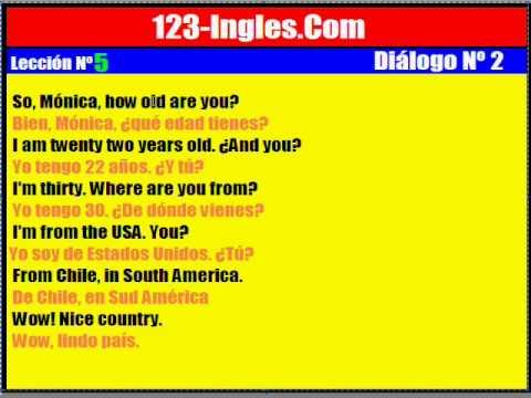 Curso de Inglés. 5. Diálogo Nº 2