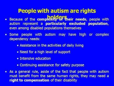 (Part 1/3) Autism and Human Rights: understanding and safeguarding the…