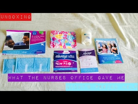 Unboxing Nurse Office Period Kits | Nicky's Period Help