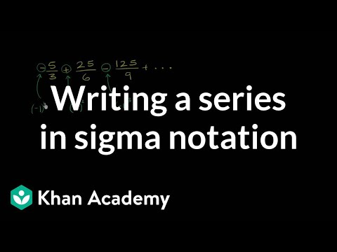 how to write a series in summation notation