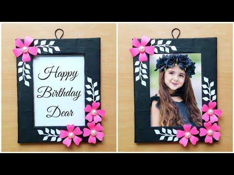 DIY Birthday Photo Frame Making / Easy handmade birthday gift ideas / Birthday gift ideas / DIY Gift