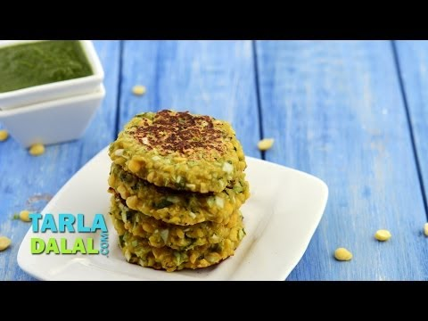 Chana Dal and Cabbage Tikki (Diabetic Snack) by Tarla Dalal