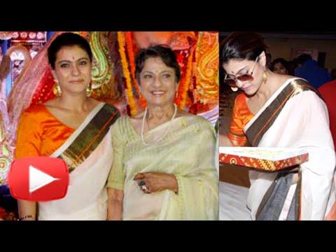 Kajol Celebrates Durga Puja 2015 with Family - UNC