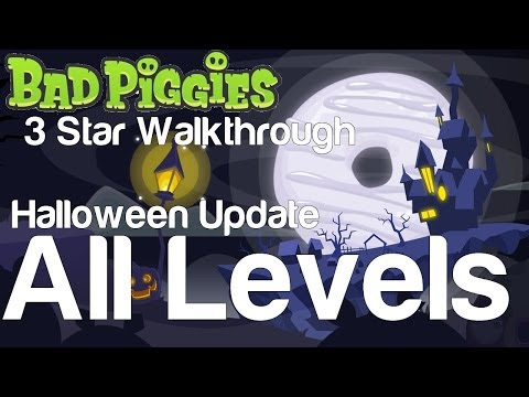 Bad Piggies 5-1 to 5-IV All Levels Tusk til Dawn Halloween Update 3 Star Walkthrough
