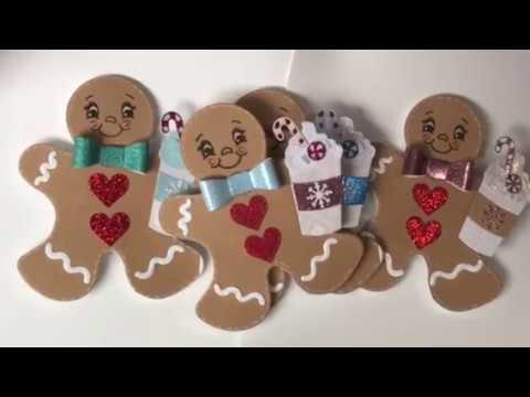 Sizzix Gingerbread Men Christmas Tags dec 2017