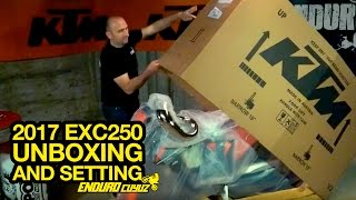 5. Unboxing and Settings 2017 KTM EXC 250