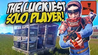 THE LUCKIEST SOLO PLAYER - Rust Solo Survival Gameplay