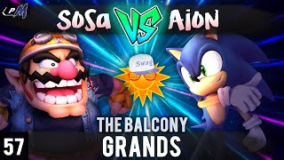 PM @ the Balcony 57 – Grands ft. R3|Sosa (Wario) VS Aion (Sonic) THIS SET WAS THE BEST OF THE NIGHT!!! HANDS DOWN