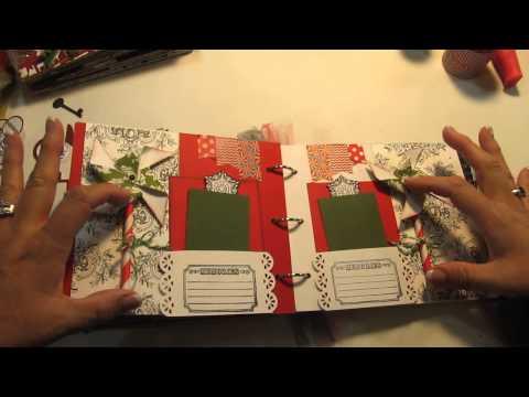 Scrapbook Mini Album – Two Christmas Themed Teresa Collins Kit)