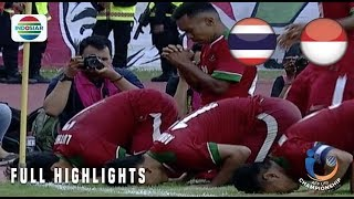 Video Thailand (1) vs (2) Indonesia - Full Highlight | AFF U19 Championship 2018 MP3, 3GP, MP4, WEBM, AVI, FLV April 2019