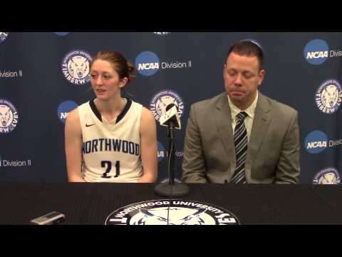 Northwood University Women's Basketball (1/24/15) NU 57, SVSU 44 - Press Conference