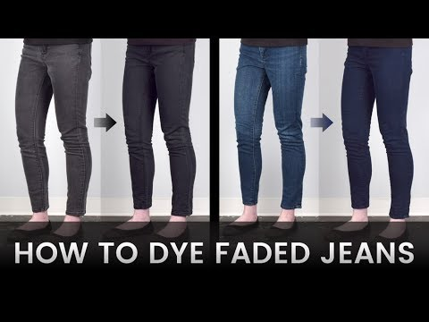 How to Dye Faded Jeans