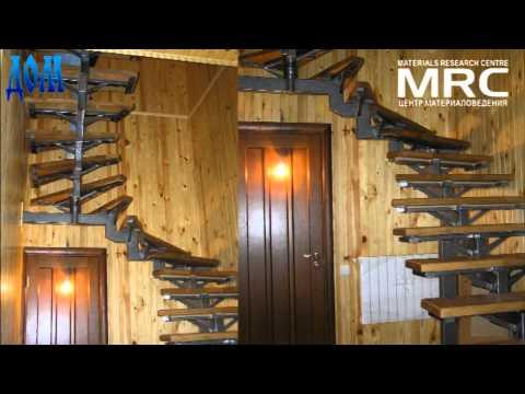 Металлическая однокосуорная лестница