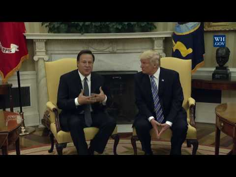 President Trump Meets with Panamanian President Varela - 6/19/17