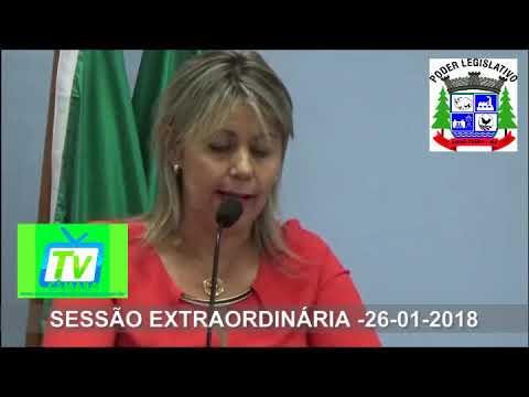 Sessão Extraordinária - Posse do Suplente Nilson Amante