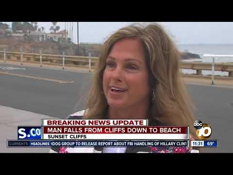 Man falls from Sunset Cliffs to beach