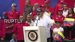 Venezuela: Maduro leads march against 'terrorism' in Caracas