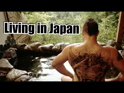 In a Japanese Public Bath WITH Tattoos! (видео)