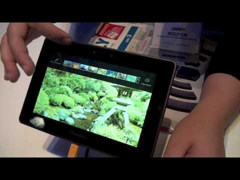 Blackberry Playbook tablet OS user interface walkthrough