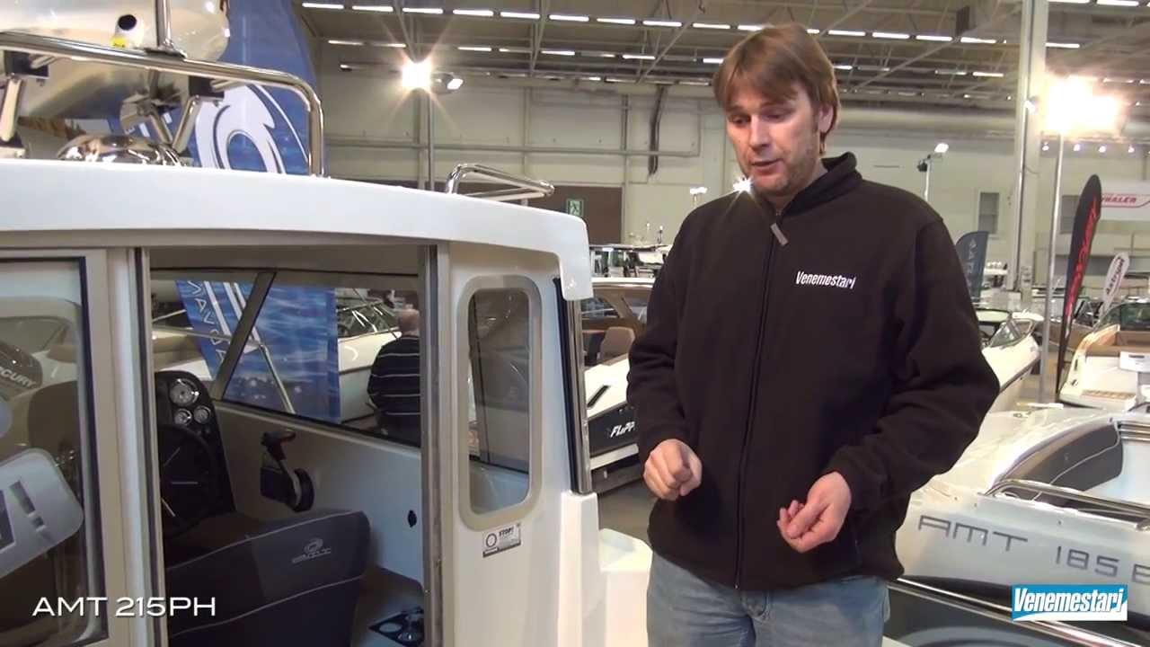 Катер с рубкой AMT 215 PH – Подробный видеобзор с выставки катеров и яхт