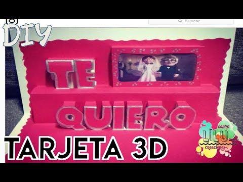 Tarjetas de amor - Tarjeta de amor TE QUIERO 3D
