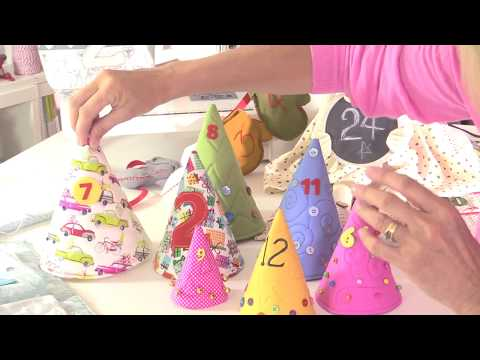 Christmas advent calendar sewing tutorial by Debbie Shore