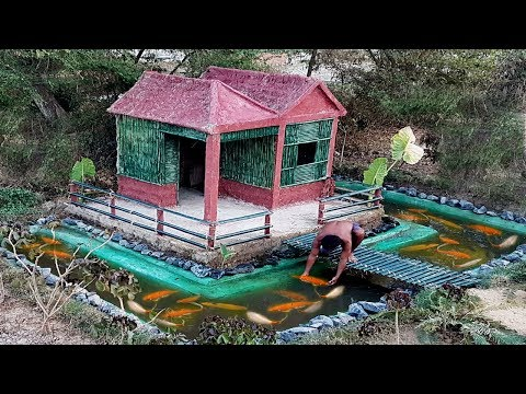 Build the beautiful fish pond around bamboo villa - Thời lượng: 15:11.