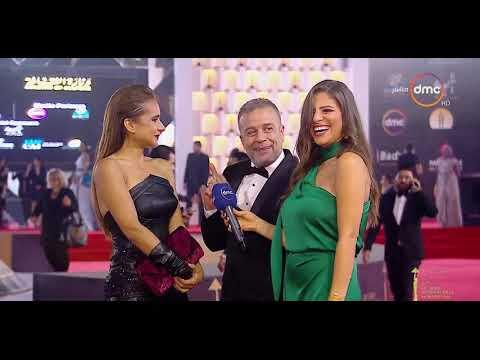 """شريف منير يقتحم مقابلة نيللي كريم في افتتاح """"القاهرة السينمائي"""""""