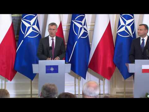 NATO Secretary General with President of Poland