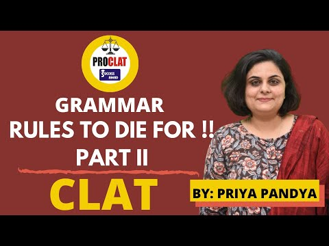 GRAMMAR - RULES TO DIE FOR !! PART II