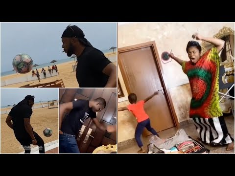 Watch Funke Akindele & Husband Funny Dance To Naira Marley | Flavour Football Skills | 5G Network