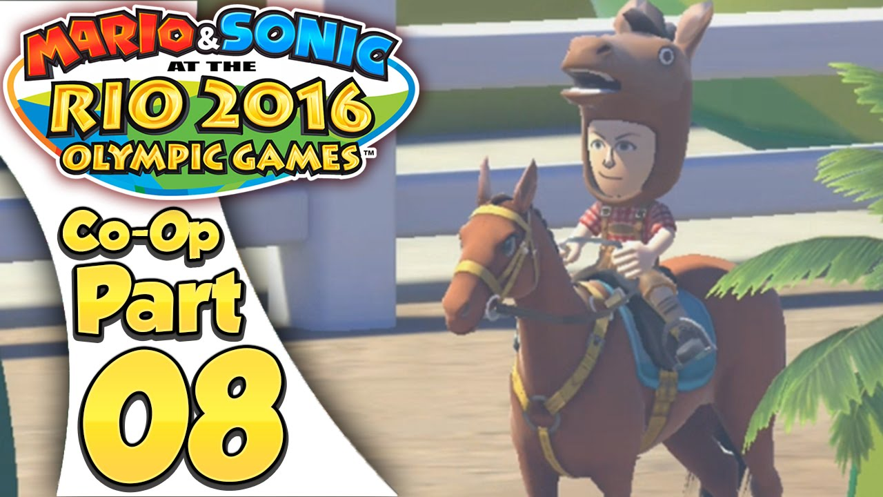 Mario & Sonic At The Rio 2016 Olympic Games – Co-Op Tournament Part 8 | Equestrian!
