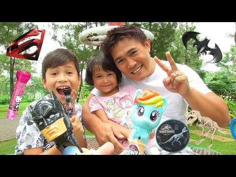 Permen Lollipop Unik karakter -  My Little Pony Superhero atau Paw Patrol dan Jurassic World
