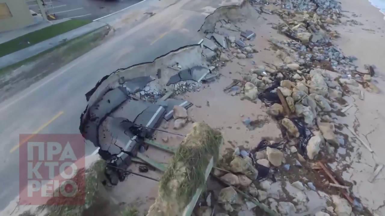 ΗΠΑ: Εικόνες καταστροφής μετά το πέρασμα του τυφώνα Μάθιου