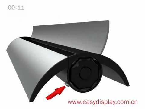 Yeni model  Roll up Banner stand kurulum ve montajı