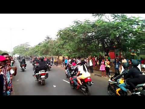 2017 Calabar Carnival : Watch Former Governor Donald Duke And Wife  With Their Monster Bike