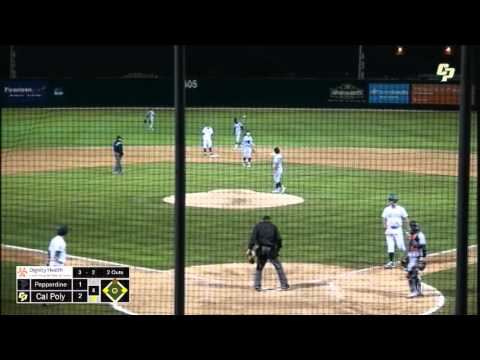 Cal Poly vs. Pepperdine Baseball Highlights -- March 1, 2016