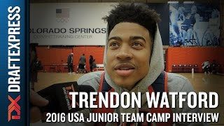 Trendon Watford Interview at USA Basketball Junior National Team Camp