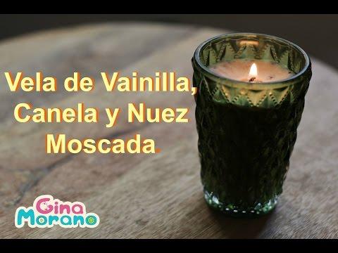 fai-da-te (diy), candela alla vaniglia, cannella e noce moscata