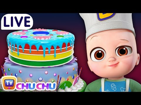 Pat a Cake + Many more Baby Nursery Rhymes & Kids Songs - ChuChu TV LIVE