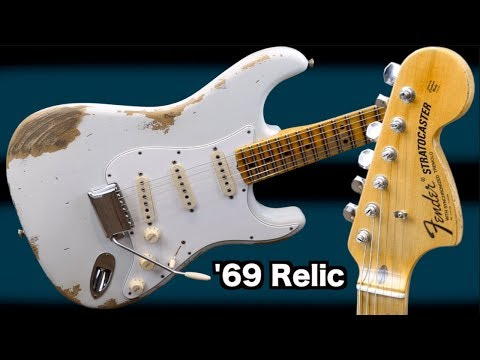 My First Custom Shop Stratocaster | 2018 Fender 1969 Strat Heavy Relic Olympic White | Review + Demo