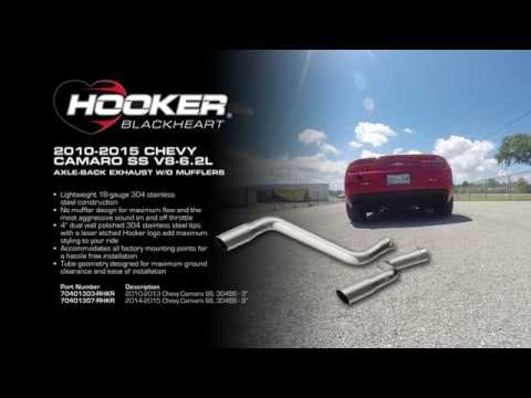 2010-2015 Chevy Camaro SS V8-6.2L Axle-Back Exhaust System without Mufflers