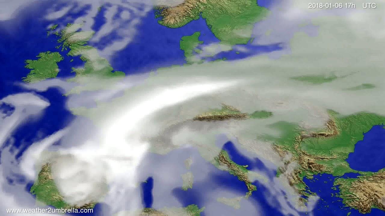Cloud forecast Europe 2018-01-04