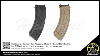 Hephaestus Custom Gas Magazine (Type A) for GHK AK series