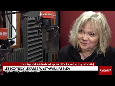 Wideo1: Lidia Dymalska-Kubasik zapowiada jasełka wystawioną przez leszczyńskich lekarzy