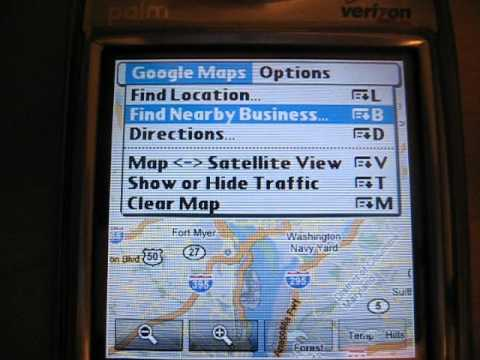 Google Maps for Palm OS video review