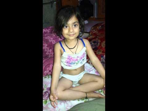 Little girl awesome yoga