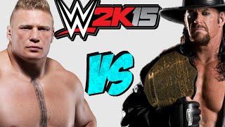 WWE 2K15: The Undertaker VS Brock Lesnar [FR//HD] full download video download mp3 download music download